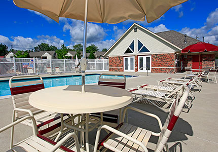 Pool area of PRE/3 multifamily property